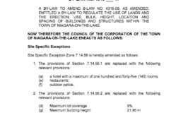 Draft Zoning By-law Amendment