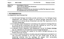 Municipal Heritage Committee staff report