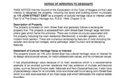 176 John Street East - Notice of Intention -